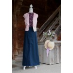 Simple Long Navy Skirt